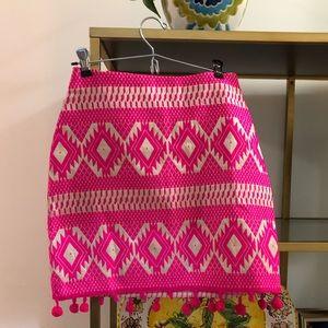 ASOS Hot Pink Pom Pom mini skirt